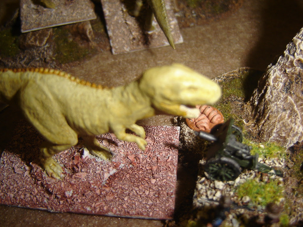 Tyrannosaur takes a shot in the face