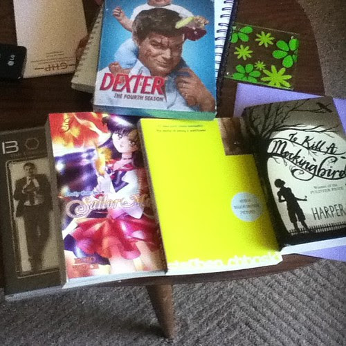 I got spoiled yesterday! #birthday #dexter #bones #books #sailormoon