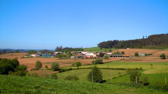 tierras de cultivo comunidad Boente Galicia España, Camino de Santiago