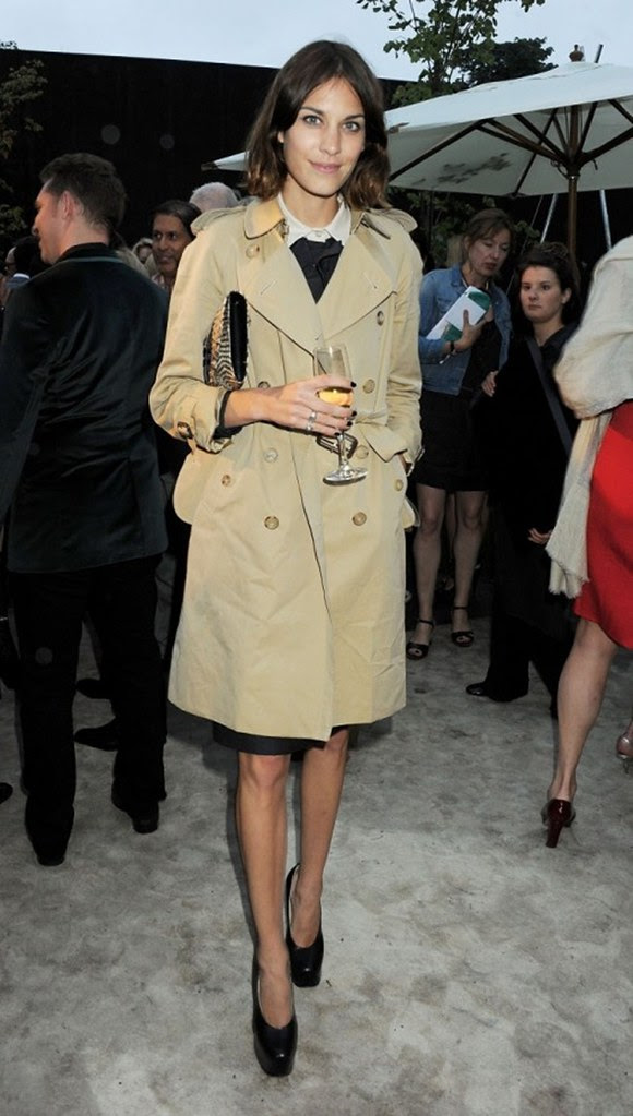 Alexa Chung attending the Burberry Serpentine Summer Party