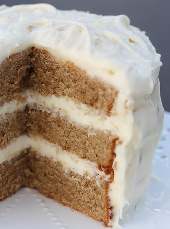 Chai Cake with Honey-Ginger Cream!