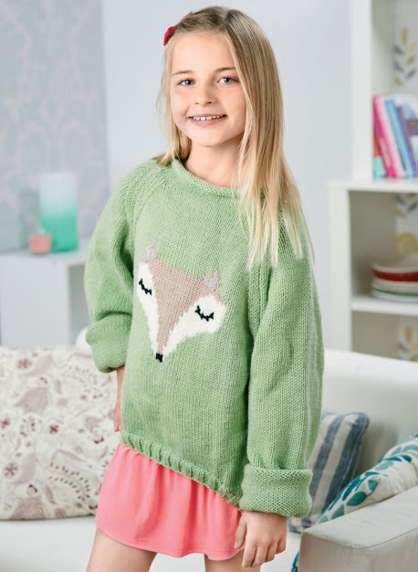 Woodland teen sweater