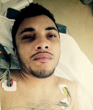 Depois de baleado pelo PM, Diego da Silva Maximiano, de 25 anos, procurou atendimento no Pronto-Socorro Clóvis Sarinho, em Natal   (Foto: Divulgação/Polícia Civil)