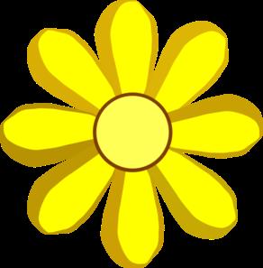 Yellow Spring Flower Clip Art At Clker Com Vector Clip Art Online