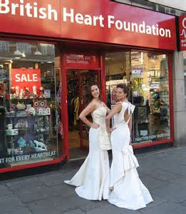 High end fashion boutique donates £6k wedding dresses to