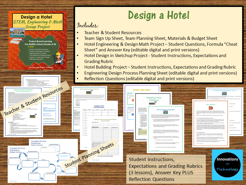 Design And Build A Hotel Stem Engineering Math Group Project