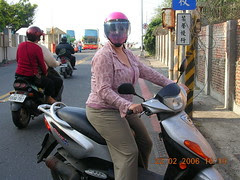 me on my moped