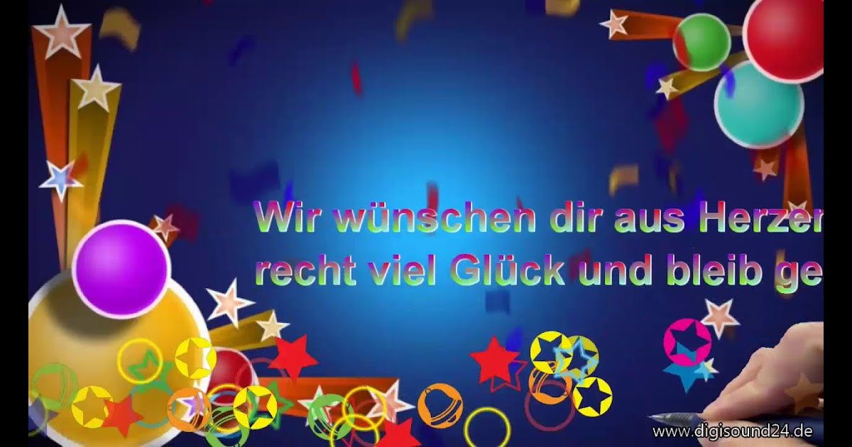 Lustig geburtstag video zum WhatsApp Geburtstagsgrüße