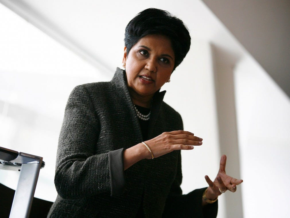 PepsiCo CEO Indra Nooyi is in the office by 7.am.