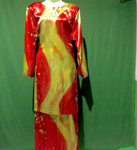 baju kurung kain satin muslimah fashion dresses  carousell