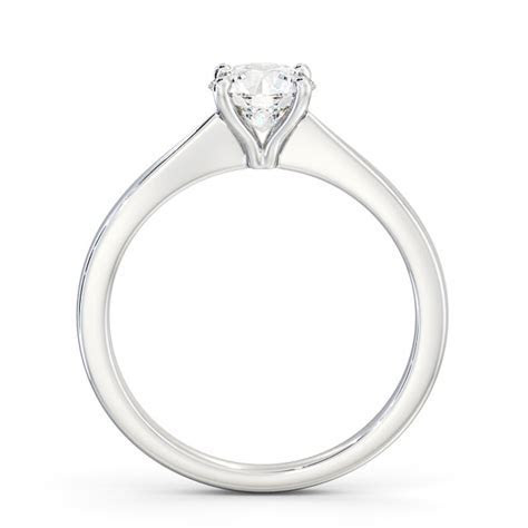 Round Diamond Engagement Ring Palladium Solitaire   Corby