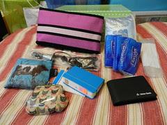 Organising handbag contents - After