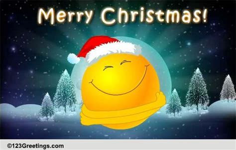 Christmas Smiley Hugs! Free Merry Christmas Wishes eCards