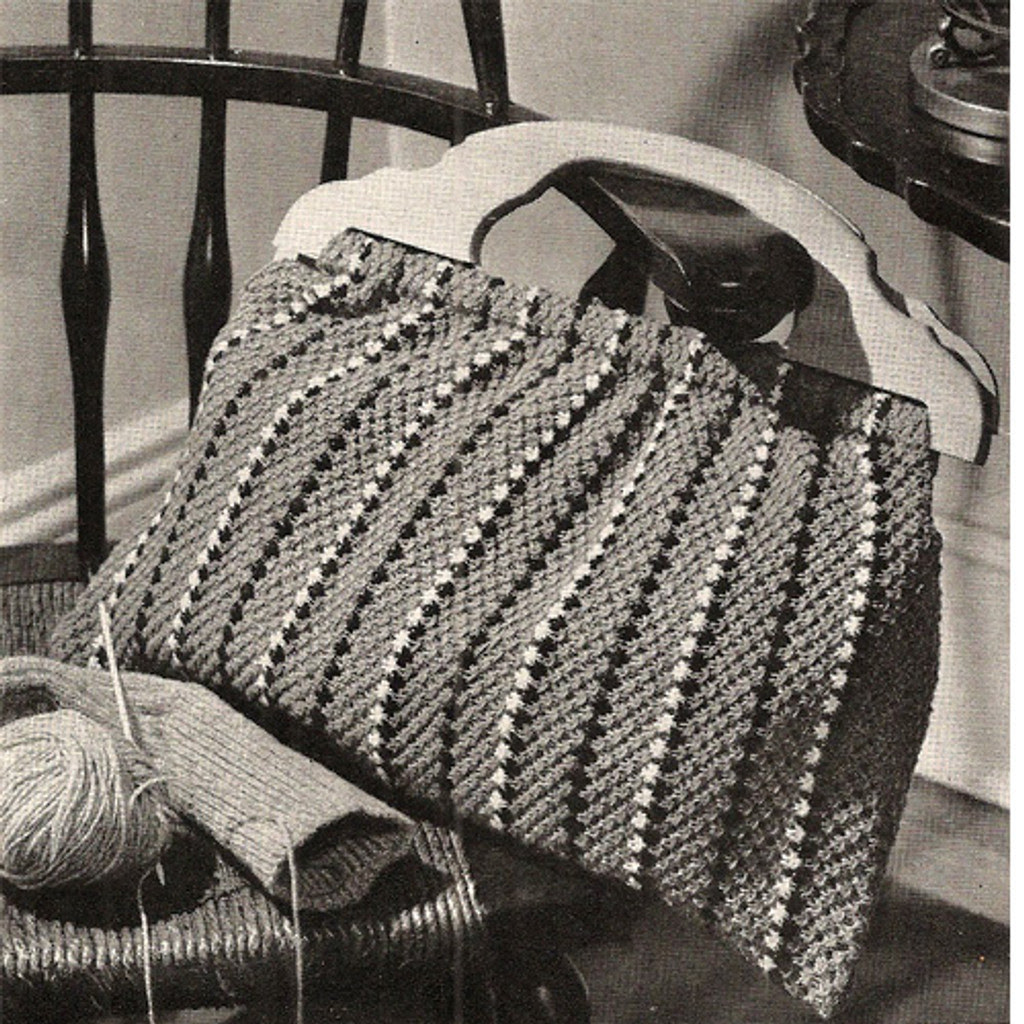 Vintage Striped Utility Bag Pattern