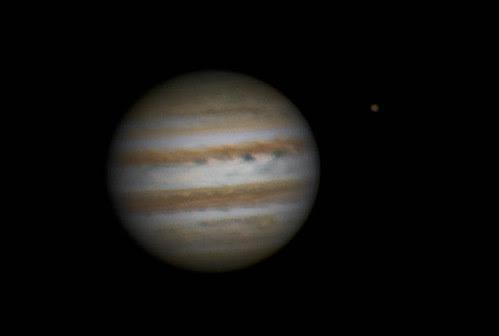 Jupiter & Ganymede RRGB - 260214 - 18:34UTC by Mick Hyde