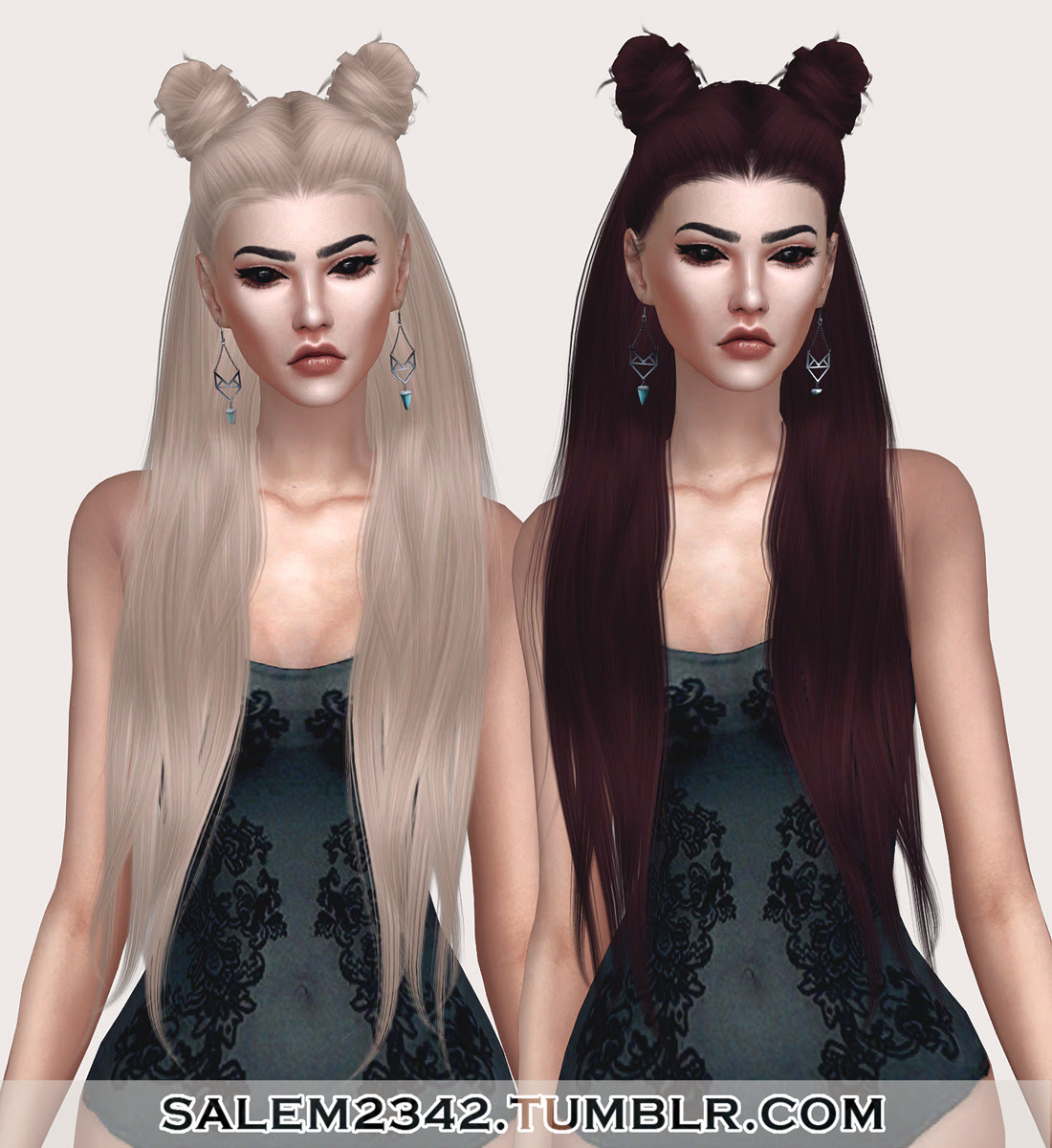 LeahLillith Little Piece Hair Retexture (TS4)• standalone • 30 swatches • MESH IS NOT INCLUDED -> download mesh (need!) • textures by me DOWNLOAD
