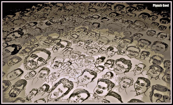 600 Caricatures in One Frame-1