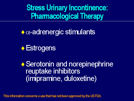 Stress Urinary Incontinence: Expanding the Treatment Options