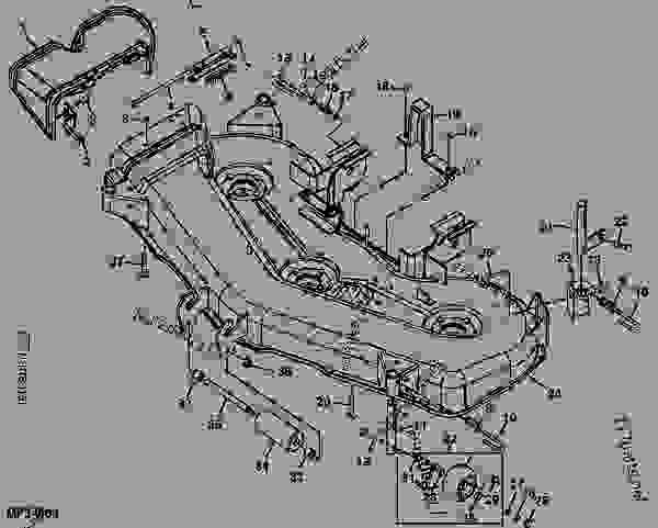 31 John Deere 60 Inch Mower Deck Belt Diagram