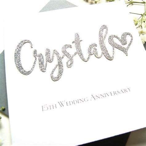 Crystal 15th Wedding Anniversary Card   Shop Online