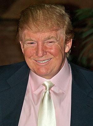 Donald Trump at a press conference announcing ...