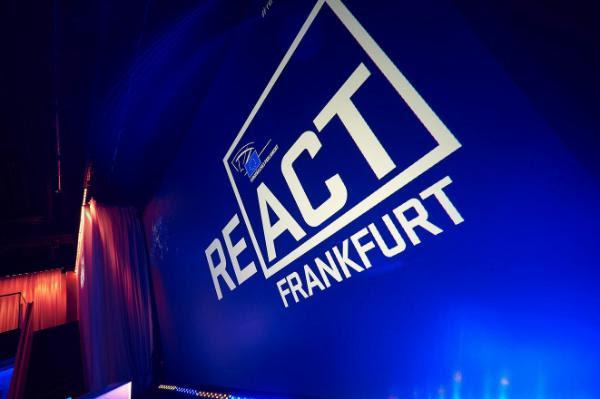 la conferencia ReACT celebrada en Fráncfort el 5 de diciembre.
