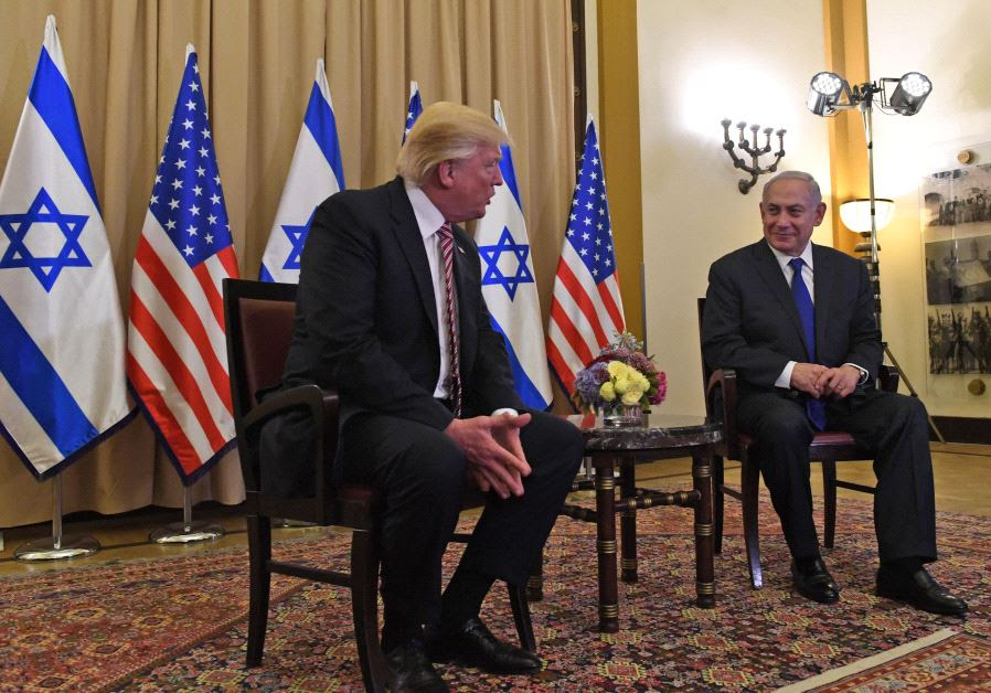 Donald Trump and Benjamin Netanyahu at the King David Hotel, May 22 2017.