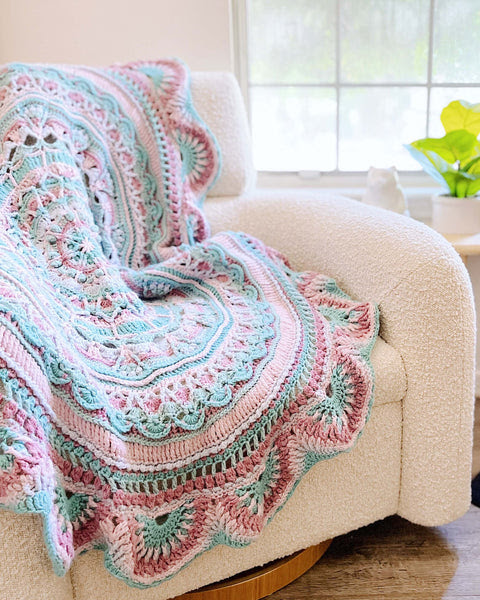 Crochet Kit - Summer Blossom Throw