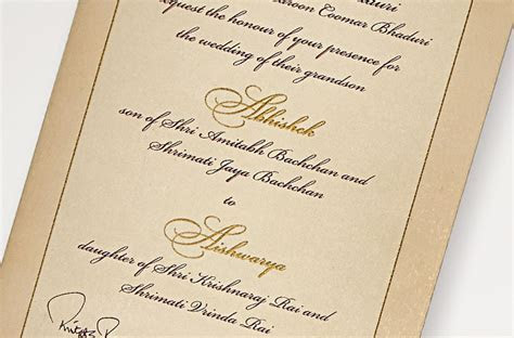 7 Bollywood celebrity wedding invitation cards that are