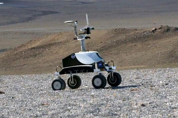 A NASA robot on Devon Island, Canada
