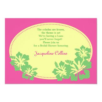 Hawaiian Hibiscus Bridal Shower Invitation
