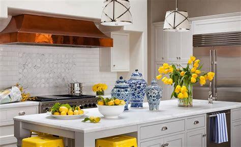 classic white kitchens  blue white accessories