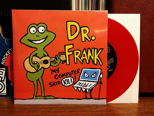 "Dr. Frank / Kepi Ghoulie - Split 7"" - Red Vinyl (/100) by Tim PopKid"