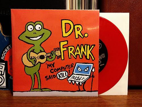 """Dr. Frank / Kepi Ghoulie - Split 7"""" - Red Vinyl (/100) by Tim PopKid"""