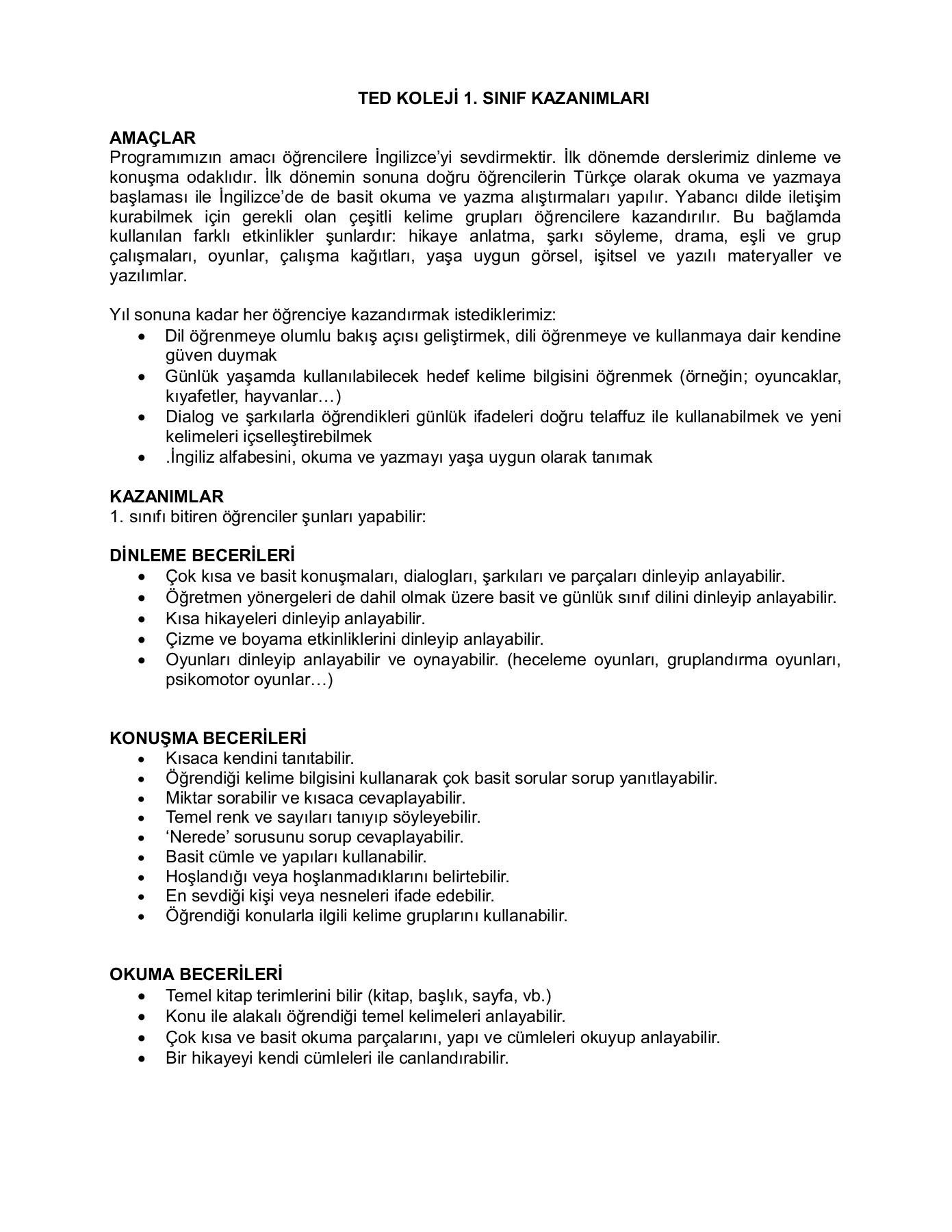 1a Ingilizce Eğitim Programı Pages 1 14 Text Version Fliphtml5