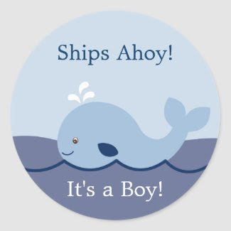 Ahoy Mate Cute Whale Envelope Seals Stickers sticker