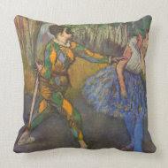 Edgar Degas - Harlequin and Colombine throwpillow