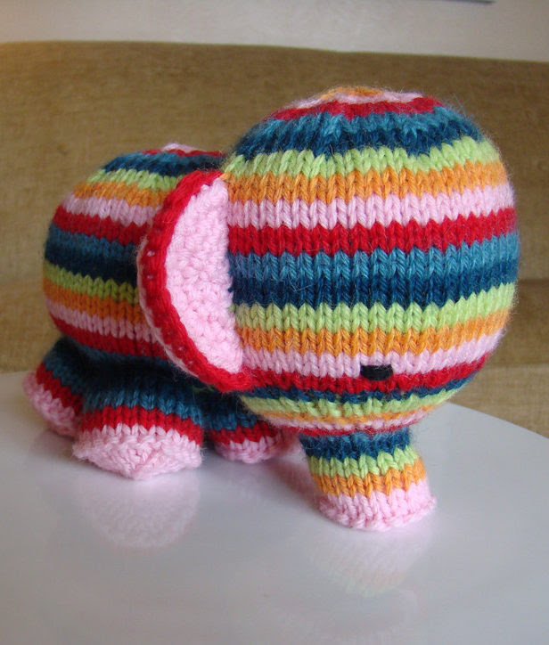 Free Knitting Pattern for Elefante Elephant Toy