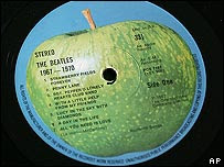 Apple Corps logo on Beatles LP