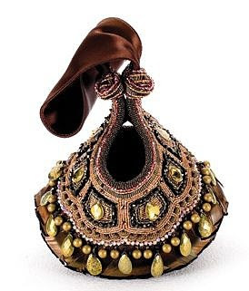 Bea Valdes amazing beaded bag with jewels