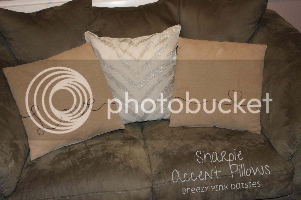 DIY text on pillows