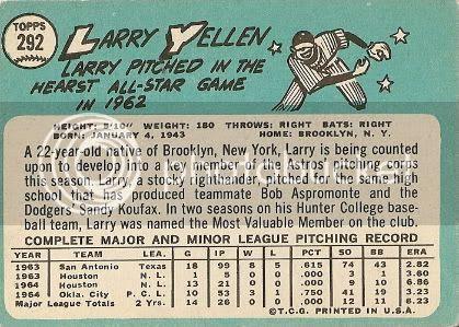 #292 Larry Yellen (back)