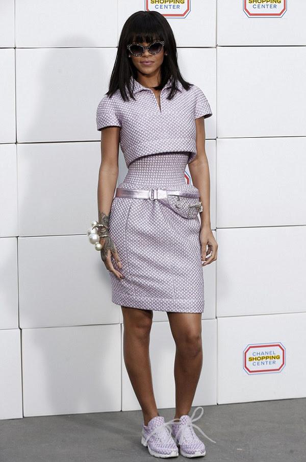 rihanna chanel fall 2014 fashion show chanel ensemble