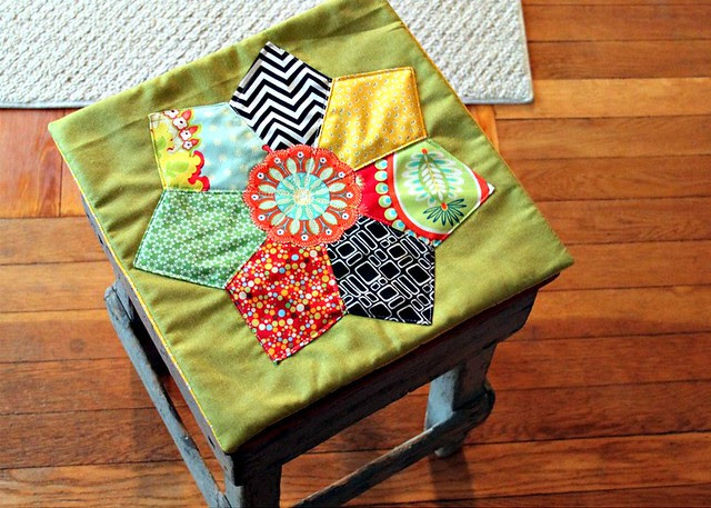 Patchwork Star Pillow Cover
