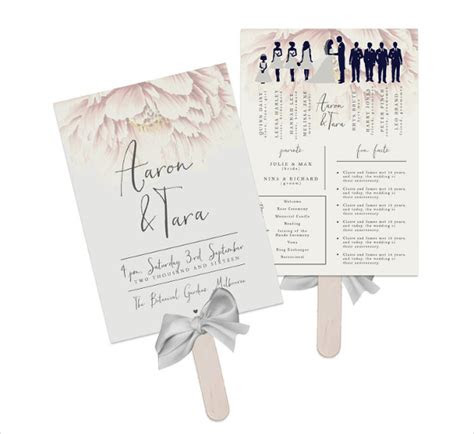 wedding fan program templates psd vector eps ai