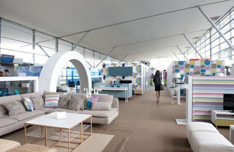 IKEA Lounge at Charles de Gaulle airport - Dezeen