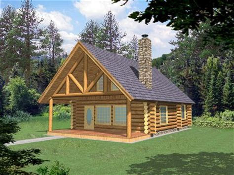 small log home  loft small log cabin homes plans