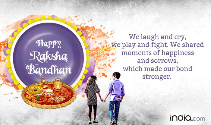Happy Raksha Bandhan Wishes 2016 Top 20 Quotes Messages Status