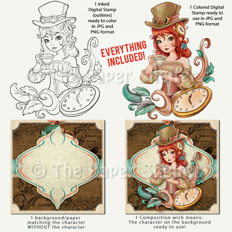 It's Tea Time! - Digital Stamp