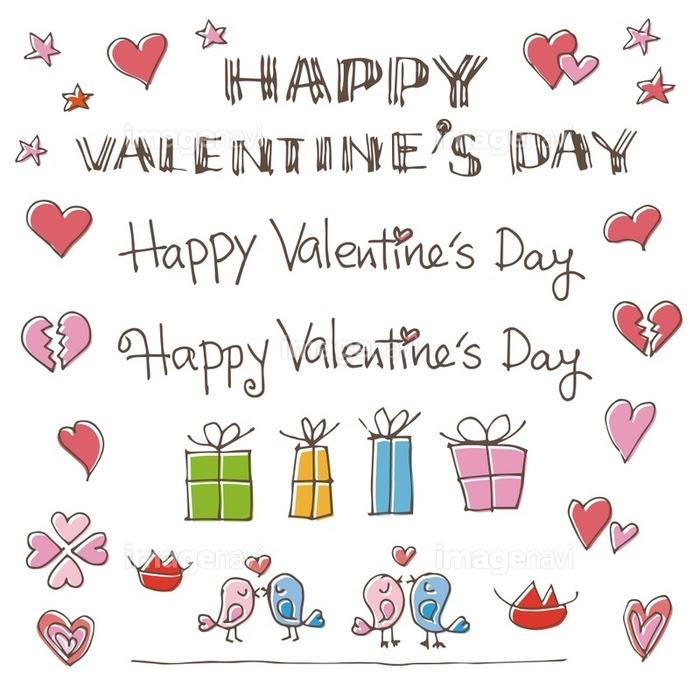 バレンタイン手書きイラスト素材の画像素材41039809 イラスト素材